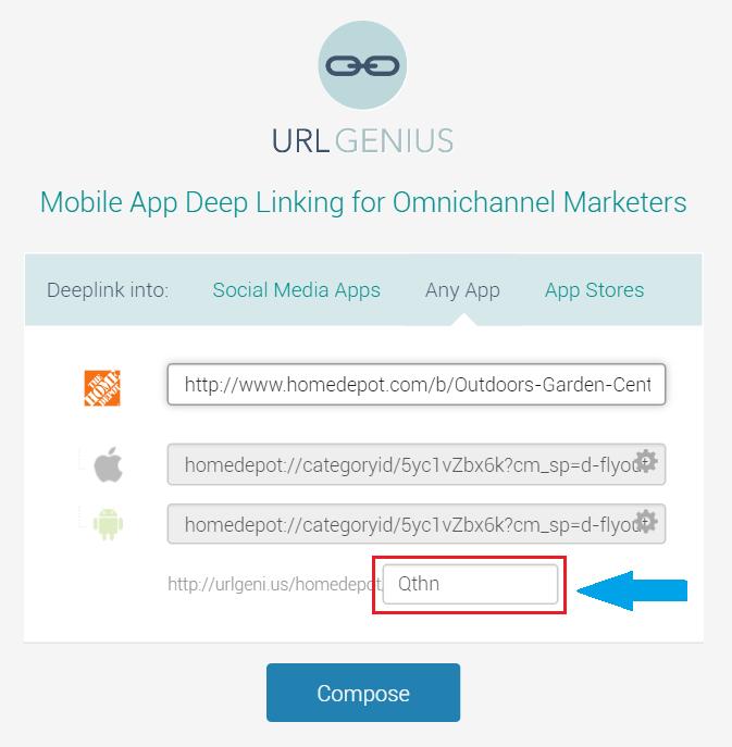 URLgenius mobile deep linking and custom paths