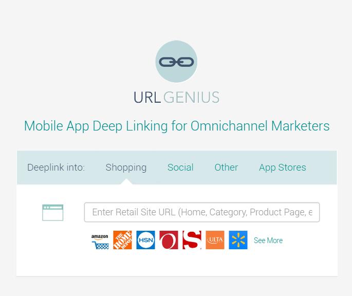 URLgenius deep linking to retail apps.