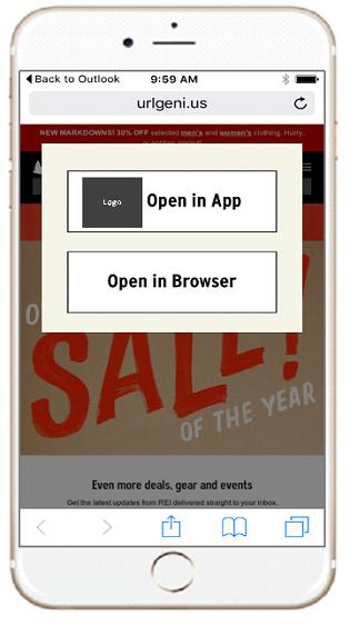 URLgenius choice page app or browser