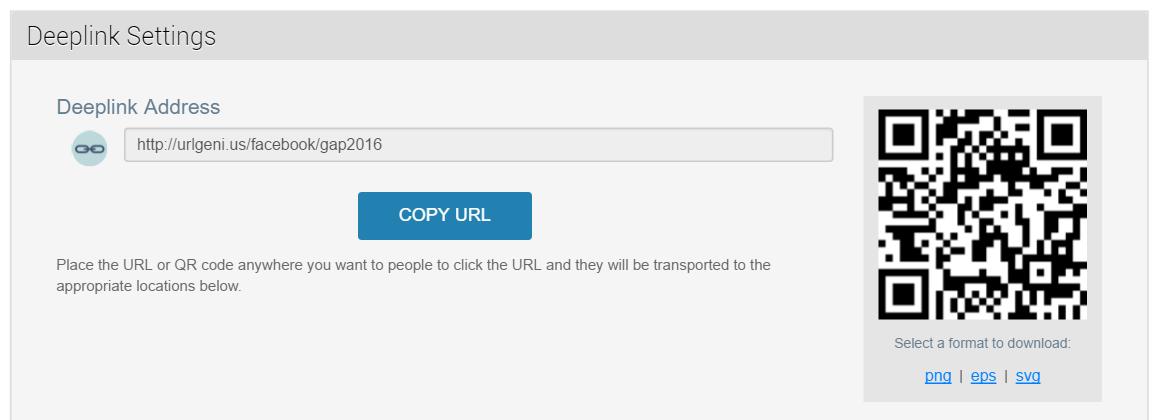 URLgenius Deep Linking to to Social Apps