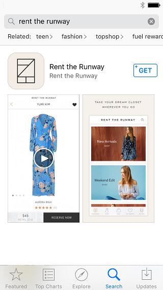 Rent the Runway Deep Linking with URLgenius
