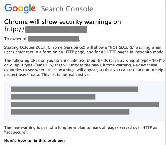 Chrome HTTPS Not Secure Warnings