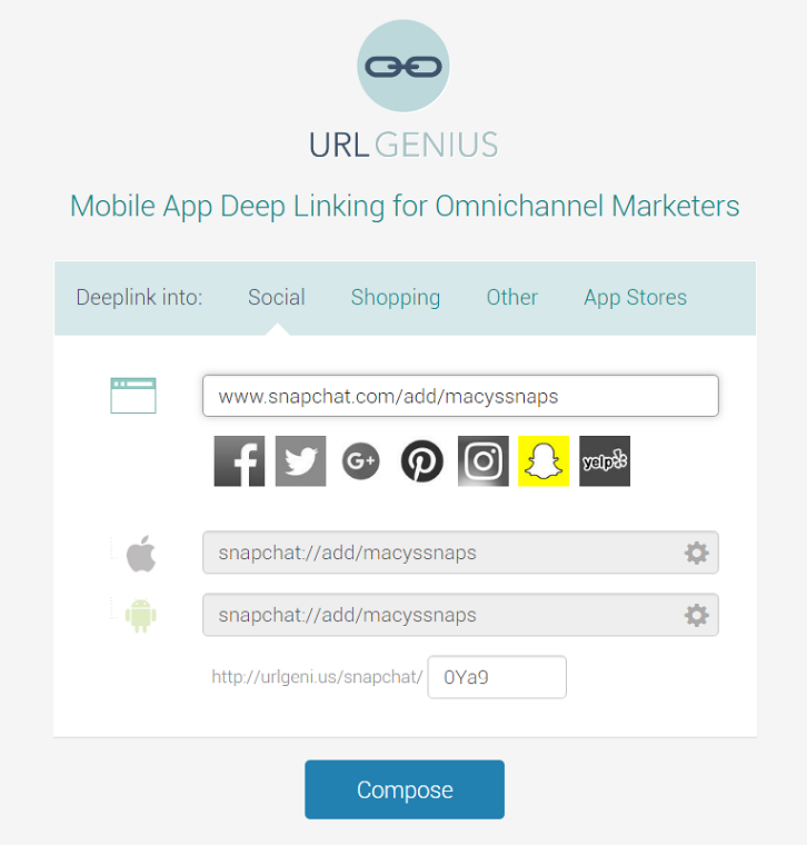 Deep Linking to Snapchat to Track App Opens | Pure Oxygen Labs
