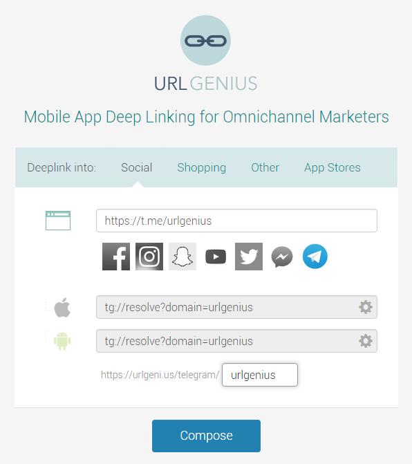 Telegram Mobile App Deep Linking