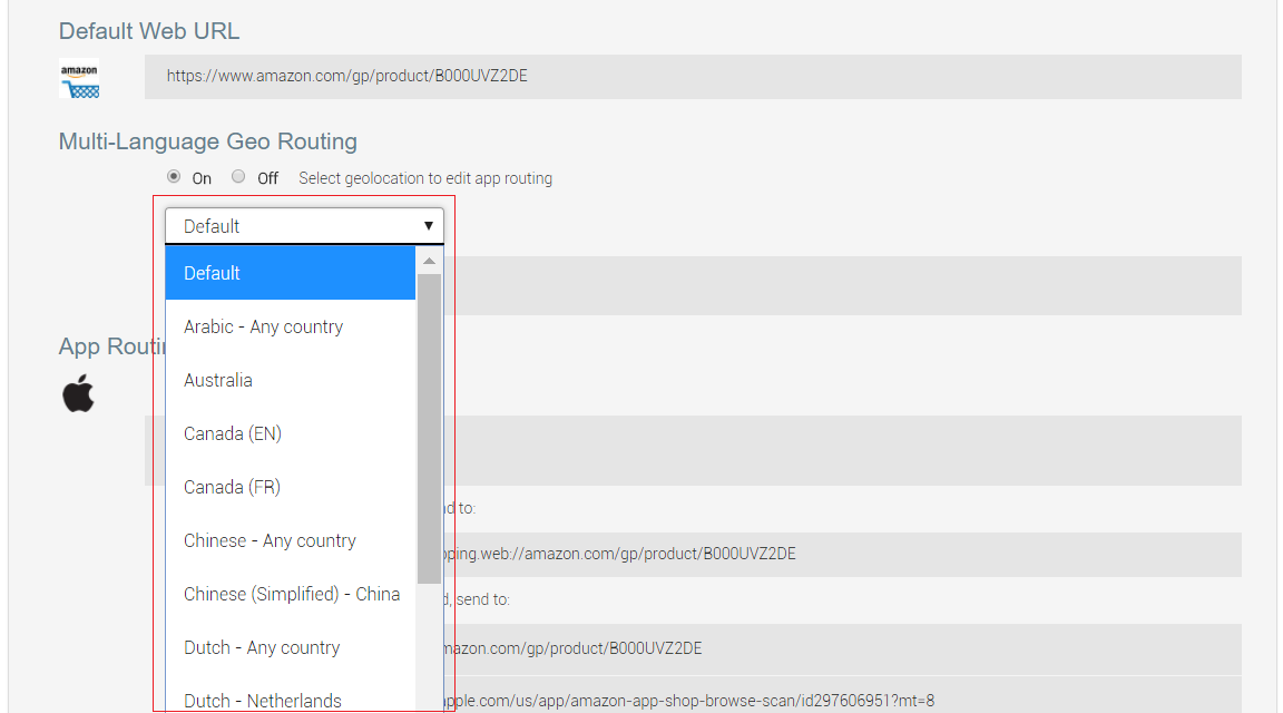 Multi-Language Geo Routing and Deep Linking
