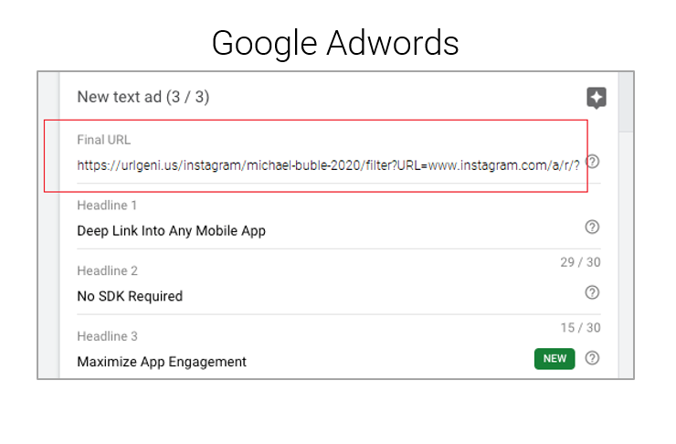 Setting Up A Google Ad to Your Instagram Filter
