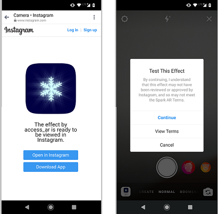 Deep Linking Directly to Instagram AR Filters