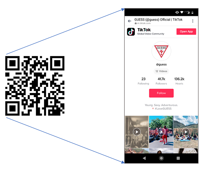 App Deep Links QR Codes To TikTok Content