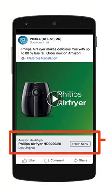 Facebook ads for Amazon products usually have low conversion rate because the shoppers is forced to login to Amazon's website from within the Facebook embedded browser session. Linking shoppers into the Amazon app when installed removes friction and increases conversion rates by as much as 200%