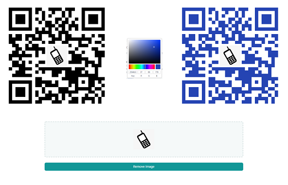 Single Link Custom QR Code for SMS App Text Messaging on iOS and Android