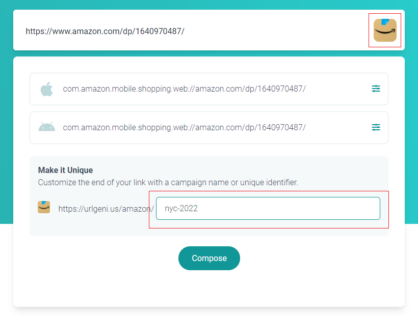 Customize the QR link path name
